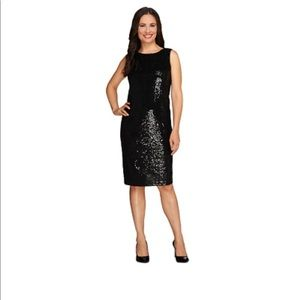 Stunning black sequin dress. EUC!